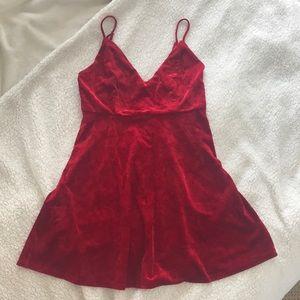 Forever 21 Velvet Red mini dress
